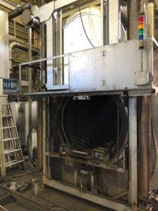 炉の扉の調整